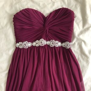 Dresses & Skirts - Pink Purple prom dress evening gown ruche jeweled